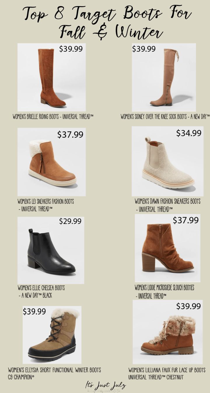 Top 8 Target Boots for Fall & Winter
